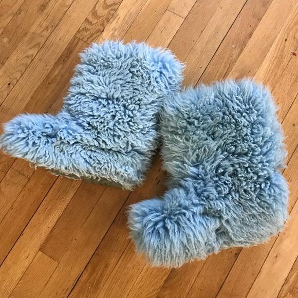 b63fbb0e0ec Fluff Momma Mongolian Ugg Boot Cornflower Blue